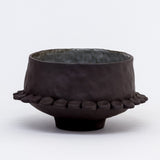 Black Stoneware Bowl by Courtney Hassmann