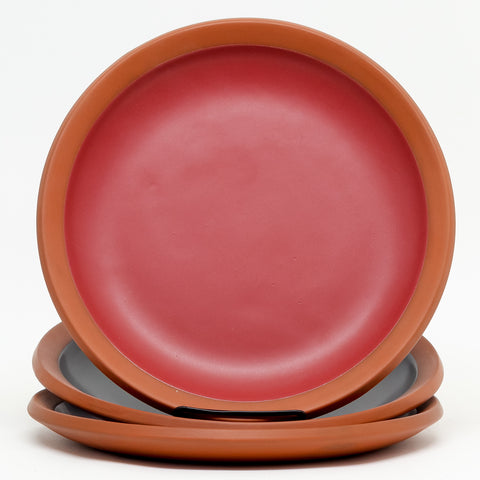 Wide Rule Dinner Plate by Eshelman Pottery