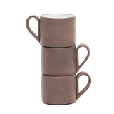 Chocolate Brown Teardrop Handle Mug by Juniper Clay