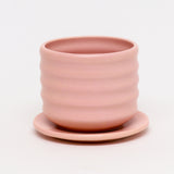 Ribbed Planter with Plate by Taylor Callaway
