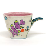 "Purple Grid Dino Belly Mug by Chanakarn ""Punch"" Semachai"