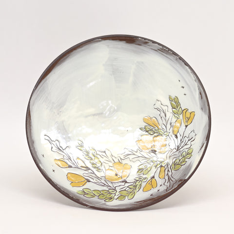 Floral Plate by Caitlin Reynolds