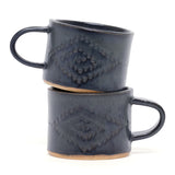 Black Diamond Mug by Ayame Ceramics
