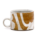 White Shape Mugs by Sarah Steininger Leroux