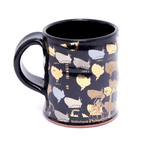 Black Decal Mug by Justin Rothshank