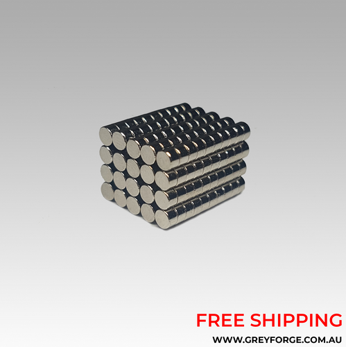 200x Rare Earth Magnets (For 25mm bases)