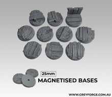 Load image into Gallery viewer, Magnetised Bases - Trench Warfare 25mm