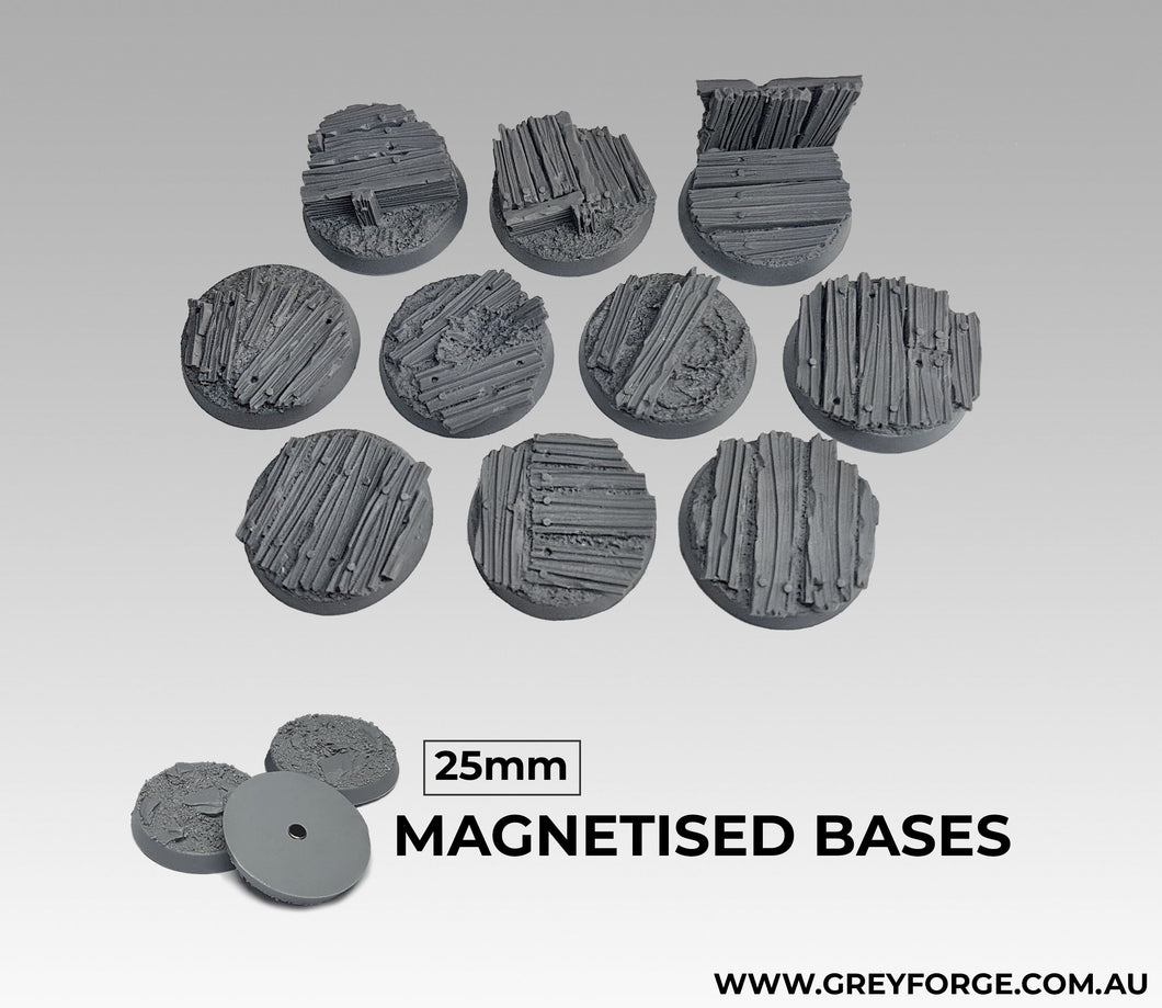 Magnetised Bases - Trench Warfare 25mm