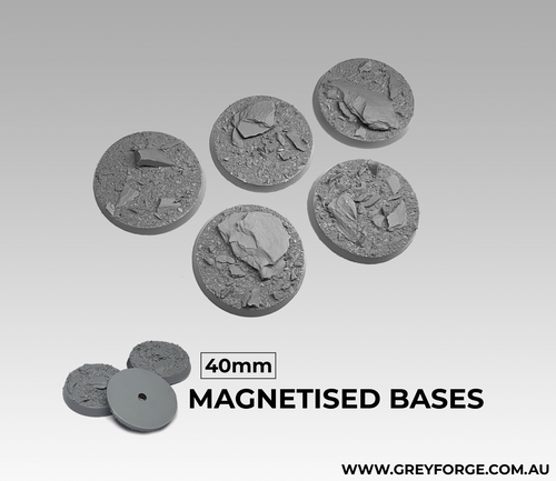 Magnetised Bases - Rock Plateau 40mm