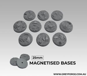 Magnetised Bases - Rock Plateau 25mm