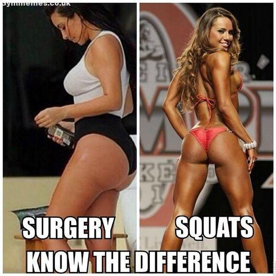 #Surgervy v. Squats #Did you know? #How to get your best body #Keep those legs smooth