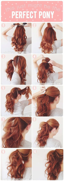 BUY BEAUTY TIPS™ (BUY BEAUTY PRODUCTS ONLINE BLOG) with Beauty Hacks™:  #Princess ponytail #How to get the perfect pony #Heat Is On™ Protective Daily Primer