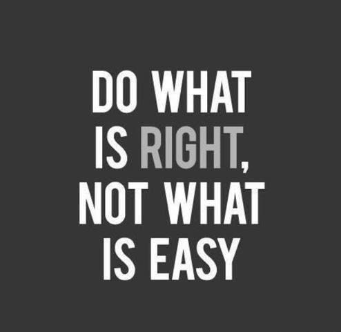Do what is right not what is easy - buy beauty products - free shipping