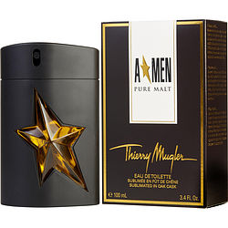 Angel Men Pure Malt  Thierry Mugler Edt Spray 3.4 Oz (Limited Edition) - BUY BEAUTY PRODUCTS