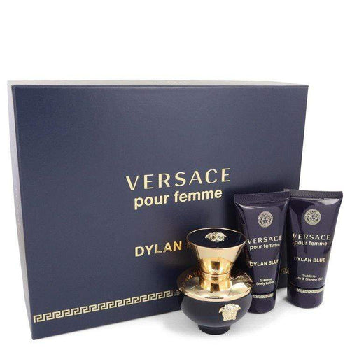 Versace Pour Femme Dylan Blue  Versace Gift Set  1.7 oz EDP Spray + 1.7 oz Body Lotion + 1.7 oz Shower Gel for Women - BUY BEAUTY PRODUCTS