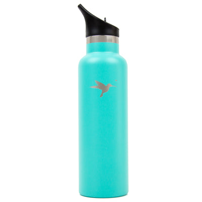 hydrate slim aqua water bottle the best water bottle company best for the planet best for you  cayucos california the best hummingbird stainless steel water bottle
