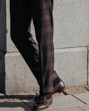 Black pair of regular fit wool cashmere trousers
