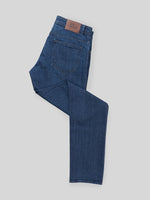Blue denim cotton 5 pocket trousers
