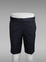Dark blue pair of regular fit cotton bermuda