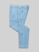Light blue denim cotton sport trousers