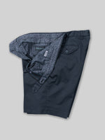 Dark blue pair of regular fit cotton sport bermuda