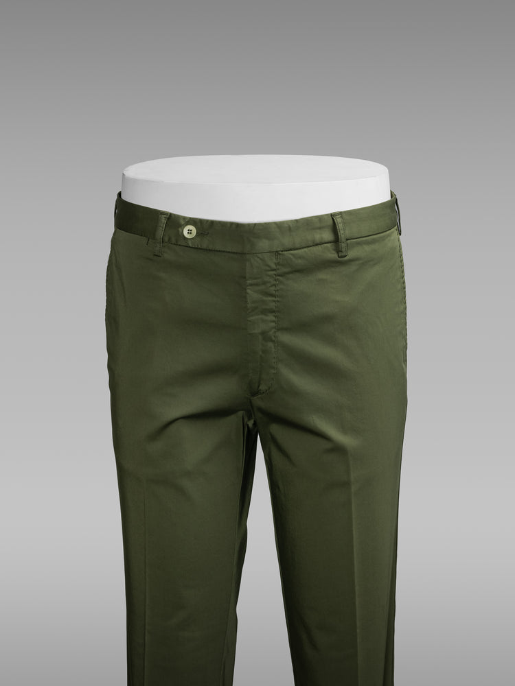 Green cotton sport trousers