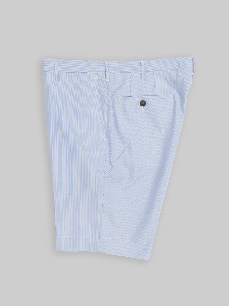 Sky blue pair of regular fit cotton bermuda