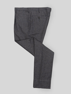 Light blue pair of regular fit wool cashmere trousers