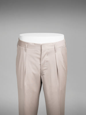 """Hollywood"" – Beige pair of regular fit wool trousers"