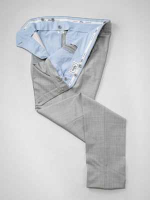 Light grey pair of regular fit wool trousers