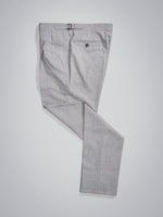 Grey pair of regular fit wool silk trousers