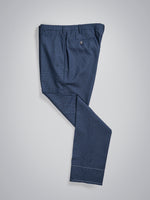 Dark blue pair of regular fit pied de poule wool trousers
