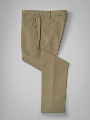 Light fawn pair of regular fit winter cotton trousers