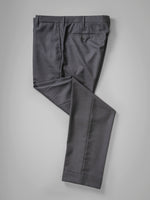 Dark grey pair of regular fit worsted wool trousers