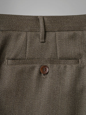 Dark fawn pair of regular fit wool trousers