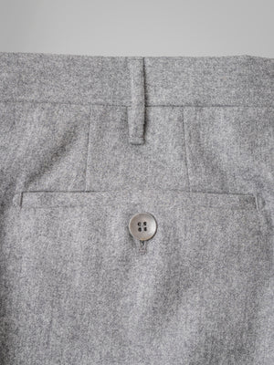 Light grey pair of regular fit flannel wool trousers