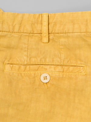 Yellow linen sport trousers