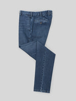 Blue denim cotton sport trousers