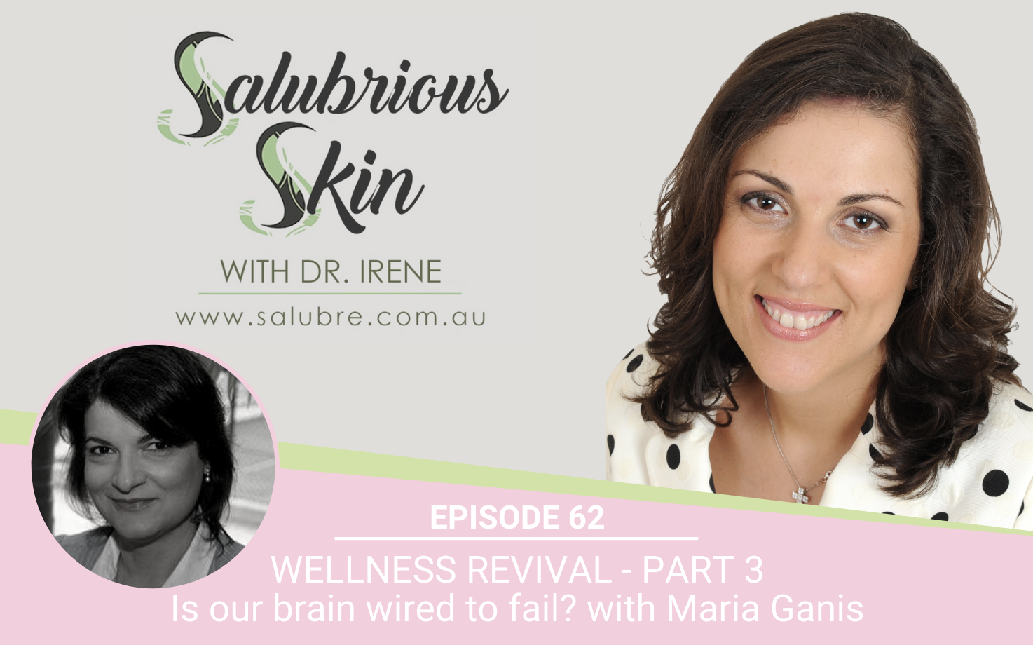 Podcast 62: Wellness Revival - Part 3: Is our brain wired to fail? Interview with coach Maria Ganis