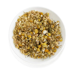 Chamomile Flowers in herbal tea