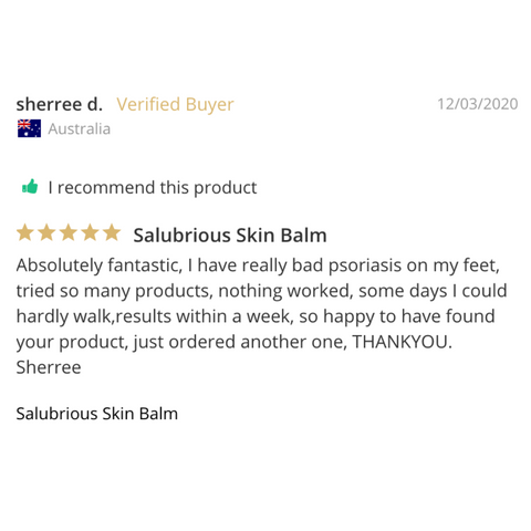 Psoriasis and eczema skin balm review by a verified customer