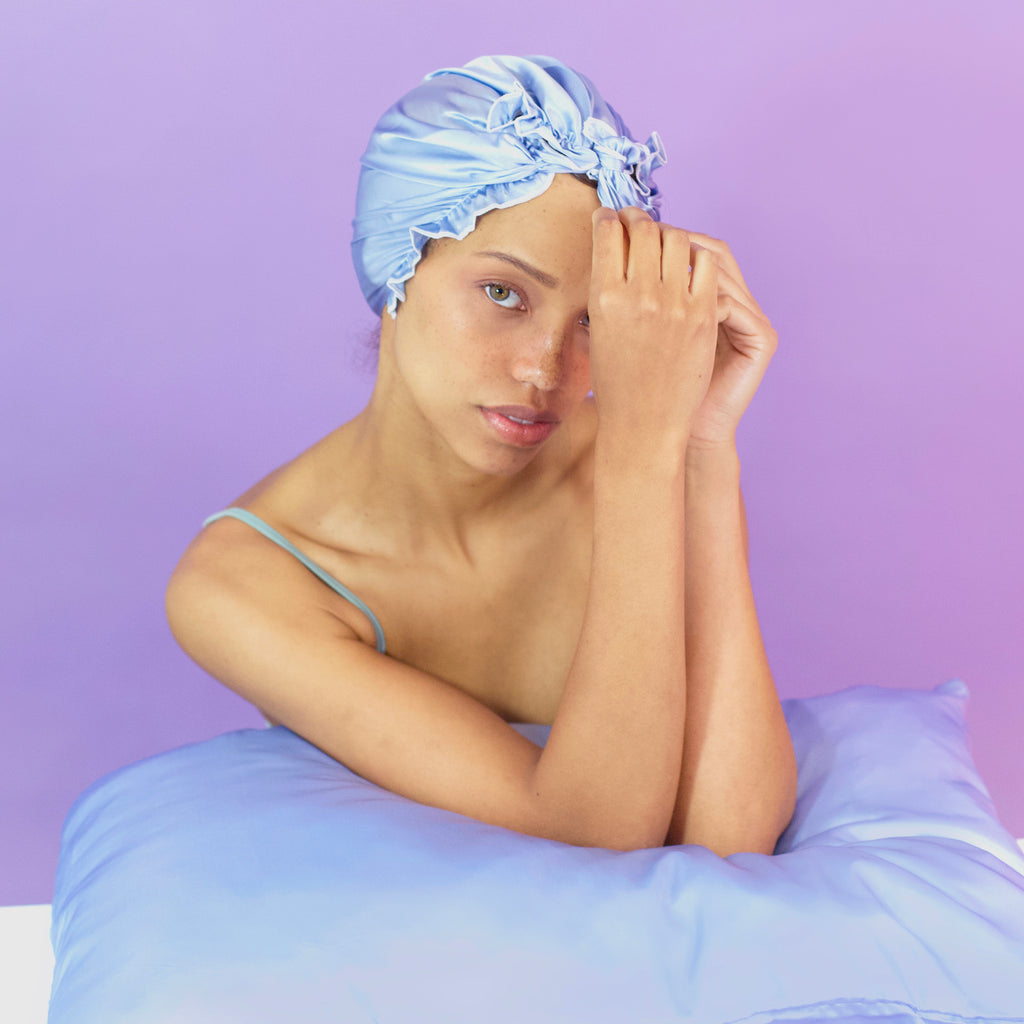 Satin Cloud Blue Pillowcase