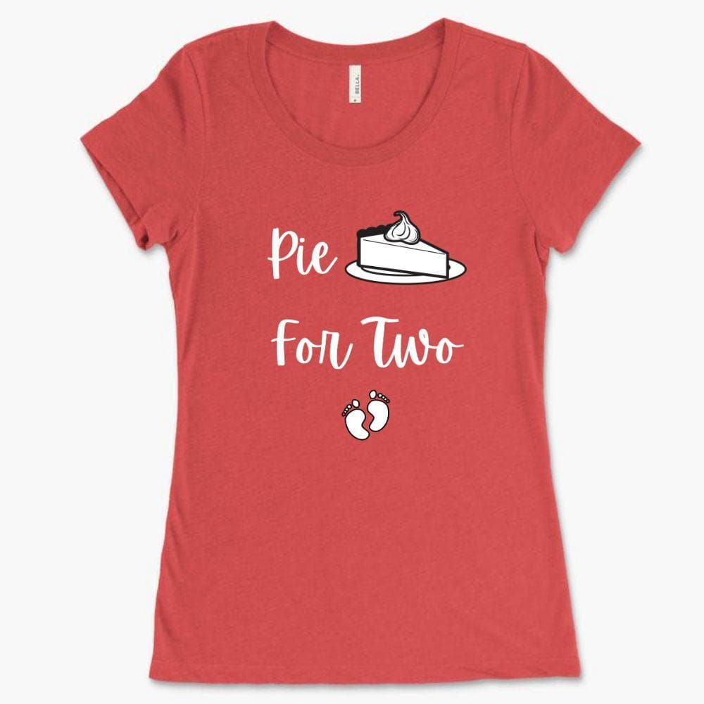 Cute Pregnancy Shirt - Pie For Two - Bella 8413 (Women)