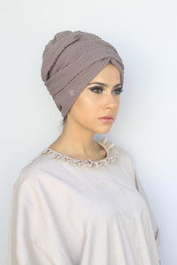Bubble-Textured Turban Hijabs