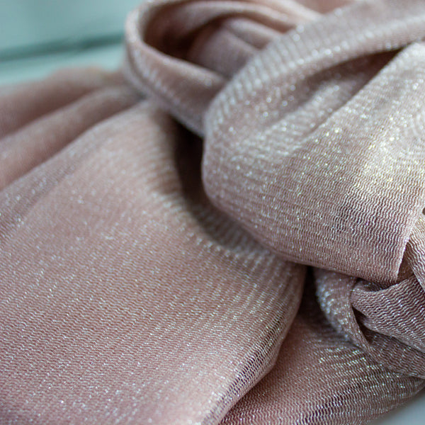 Shimmer Luxe Pull-on Turban hijab with ties