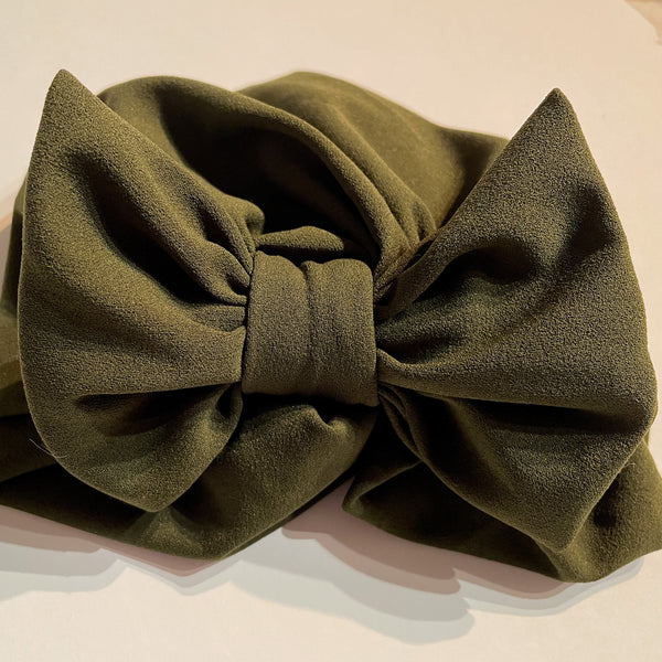 Junior Solid Luxe Pull-on Turban with bow