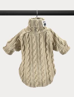 Cable Knit Lightweight Sweater - Beige