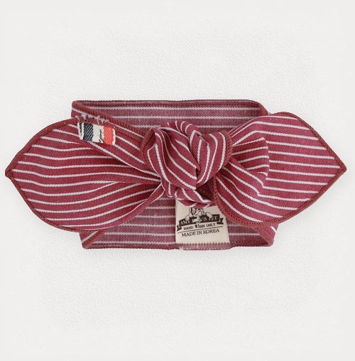 Classic Red Pinstripe Fashion Scarf - FURRY BETCH