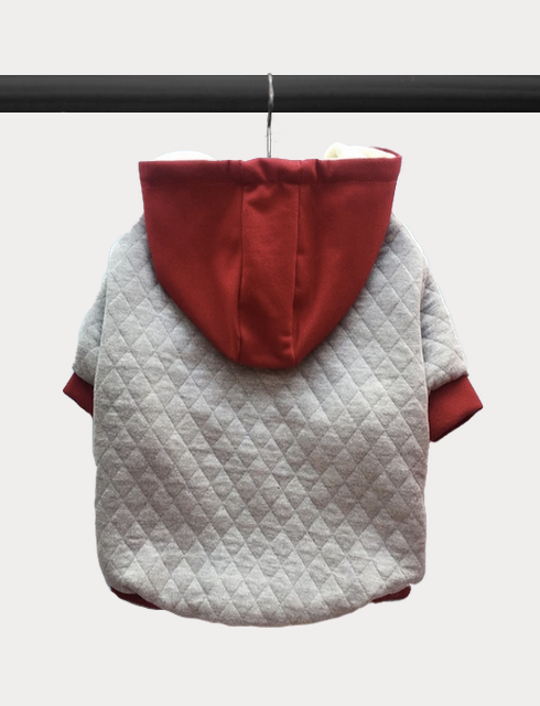 Quilted Button Front Hoodie