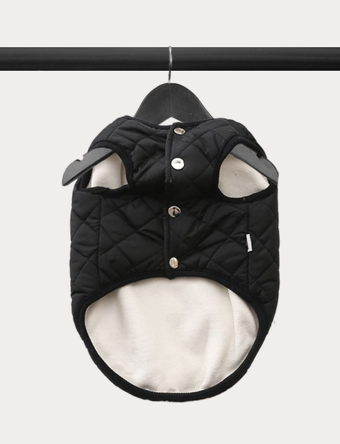 Diamond in the Ruff Quilted Vest - Black